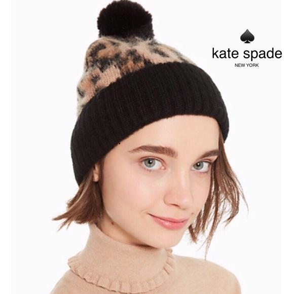 58ce5f7e5eac kate spade Accessories | Leopard Pom Hat Nwt | Poshmark